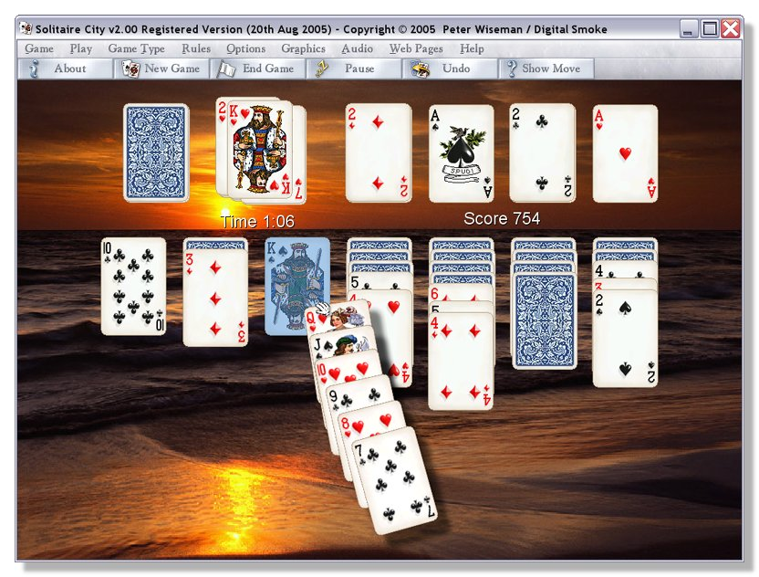 Solitaire City for Windows - A solitaire game you can't afford to miss !