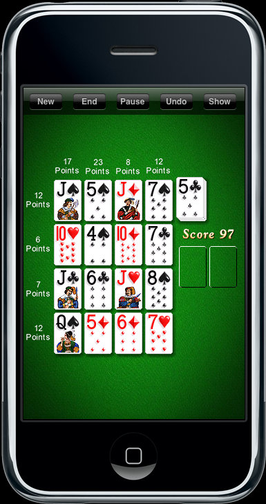 Cribbage Squares on iPhone