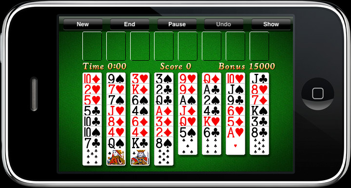 FreeCell on iPhone