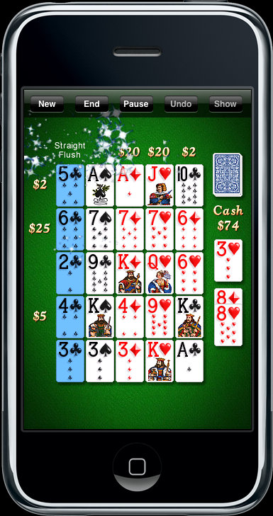 Poker Squares on iPhone